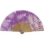扇子 婦人用 蝶 紫 唐木 121010