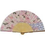 扇子 婦人用 桜 シルク 121015