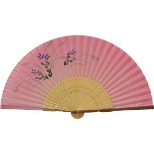 扇子 婦人用 白竹 唐木 桔梗 すすき シルク