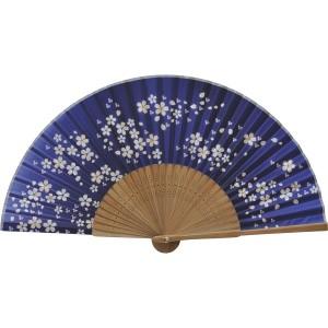 扇子 婦人用 唐木 桜 シルク 121023